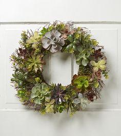 Bloom Room Succulent Mix Spiral Twig Wreath