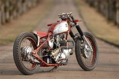 attitude in the middle of the road!  vintage motorcycle