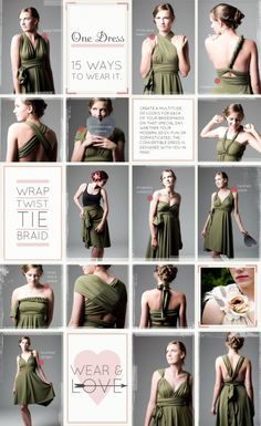 1 dress 15 ways. Not this color though!