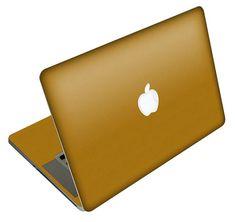 MacBook Pro or MacBook Air  Gold Brushed Skin FULL by iCoverSkin, $49.99