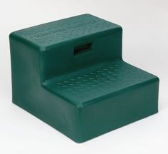 "Hammer 2-Step Mounting Block Hunter Green by Hammer. $43.85. Designed with standard household riser dimensions. ""Tough Tread"" pattern on steps for added skid resistance. Wider base for extra stability. Rubber gromets on bottom reduce sliding. Lightweight. Perfect for getting on and off your horse. You can also use it around the house, to get in and out of your trailer or truck camper, dog steps, and in the garage."