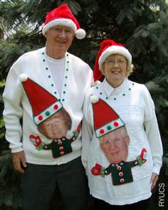 I'm really LOVING these ugly Christmas sweaters.