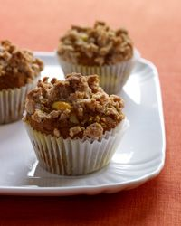 Pumpkin Muffins with Crumb Topping // More Breakfast Muffins: http://www.foodandwine.com/slideshows/breakfast-muffins/1 #foodandwine