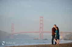 Best Golden Gate Bridge engagement photo with this San Fransisco couple.   Chicago Engagement Photographer - Nakai Photography http://www.nakaiphotography.com