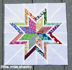 love this scrappy double star block