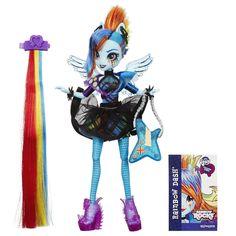 Amazon.com: My Little Pony Equestria Girls Rainbow Rocks Rainbow Dash Rockin' Hairstyle Doll: Toys & Games