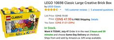 Amazon Canada Deals: Save 39% on LEGO Classic Large Creative Brick Box http://www.lavahotdeals.com/ca/cheap/amazon-canada-deals-save-39-lego-classic-large/219623?utm_source=pinterest&utm_medium=rss&utm_campaign=at_lavahotdeals