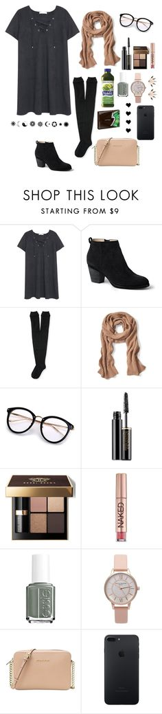 """""""When you try to be chic"""" by ahriraine ❤ liked on Polyvore featuring MANGO, Lands' End, Aéropostale, Banana Republic, Lancôme, Bobbi Brown Cosmetics, Urban Decay, Essie, Olivia Burton and Michael Kors"""