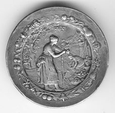 Lovely Antique 1904 Medal Women Grafting Planting Trees Agriculture Horticulture | eBay