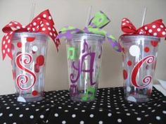 Personalized Acrylic Tumbler Cup with Lid & Straw