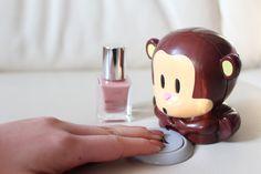 cute monkey Nail dryer It's so cute ! Link: http://fancy.com/things/242537797045457797/Blow-Monkey-Nail-Drier  also on ebay or amazon