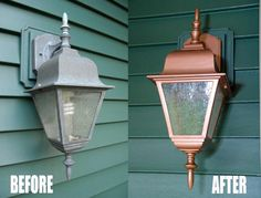 In this post, I use copper paint to create a thrifty, exterior light makeover that looks like a million bucks.