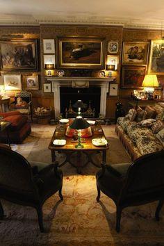 The Drawing Room at Thurloe Lodge, Mark Birley's London home.