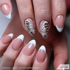 Fen m ng Butterfly Nail Designs, Nail Art Designs, Nail Manicure, My Nails, Nail Salon Equipment, Artificial Nails, Nail Decorations, Accent Nails, Perfect Nails