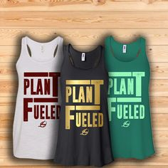Vegan Women's Tank Top - Plant Fueled Tank now available in our store! https://www.livingengine.com/collections/women-tanks/products/plant-fueled-flowy-racerback-tank
