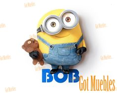Lámpara 3D Funny Light Mini Bob Minion  www.gotmuebles.mx
