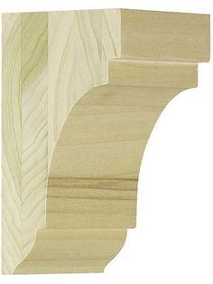 """Carved Wood Corbels. Medium Poplar Cove Corbel 5 1/2"""" x 3 1/4"""" x 3""""  Unfinished Wood Ready for Stain or Paint Exterior Rated Glue for Interior or Exterior Use Authentic Vintage Millwork Pattern"""