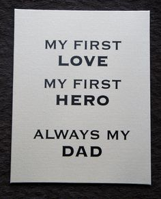 Fathers day gift: My first love My first Hero always my Dad Canvas Board by nlcorder,