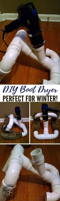 DIY Boot Dryer - Perfect for Winter! — Winter months bring winter storms; snow, freezing rain and ice. As ugly as this sounds, preppers cannot afford to huddle inside all winter long... we have chores to do outside.