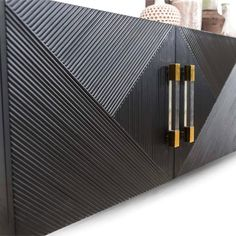 Introduce uniqueness into your interior décor with this Milan 4 Door credenza featuring a stunning geometric pattern design. Iron Main Gate Design, Home Gate Design, House Main Gates Design, Main Door Design, Simple Main Gate Design, Room Door Design, Gate Designs Modern, Modern Gates, Modern Door Design
