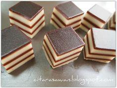 Recipes today - Kuih Lapis Serikaya Coklat