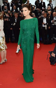 Dark green gown at The Cannes International Film Festival