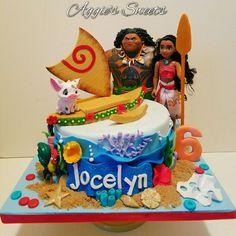 Disney Princess Moana Birthday Cake Moana Birthday Party, Moana Party, Luau Birthday, 6th Birthday Parties, Birthday Cake Girls, Birthday Ideas, Disney Princess Party, Princess Moana, Hawaian Party