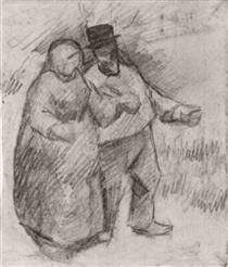 Walking Couple - Vincent van Gogh