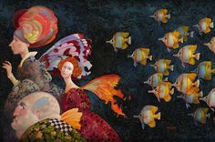 Faeries Pursued by Butterfly Fish, by James C. Christensen.