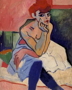 Andre Derain's Dancer at Le Rat Mort Matisse & Co. – The Flashy Fauves Art And Illustration, Henri Matisse, Andre Derain, Fauvism Art, Maurice De Vlaminck, Raoul Dufy, Georges Braque, French Artists, Figurative Art