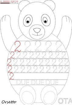 Crafts,Actvities and Worksheets for Preschool,Toddler and Kindergarten.Lots of worksheets and coloring pages. Preschool Number Worksheets, Teaching Numbers, Numbers Preschool, Kindergarten Activities, Preschool Activities, Childhood Education, Kids Education, Number Tracing, Number 2
