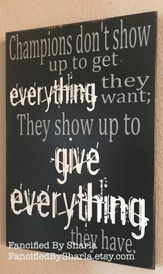 Champions State Champs Champions Give Everything Sports Decor Coach's Gift Athlete Motivation Locker Room Decorations, Football Locker Decorations, Football Room Decor, Tennis Decorations, Football Rooms, Ball Decorations, State Champs, Coach Gifts, Team Gifts