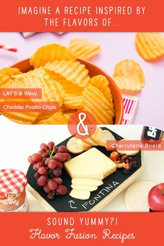 Help LAY'S Wavy and Top Chef Winner Stephanie Izard create recipes inspired by YOUR favorite flavor pairings. ♥ this pin if you'd like to see the flavors of a Charcuterie Board and LAY'S Wavy Cheddar Potato Chips come to life in a flavor fusion recipe! Check out more flavor fusion pins here (https://www.pinterest.com/layswavy/flavor-fusion-inspiration/), and be sure to follow LAY'S Wavy to see the recipes that Stephanie ends up making.