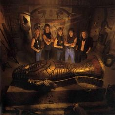 Iron Maiden-Powerslave pic of the band from the back of the album