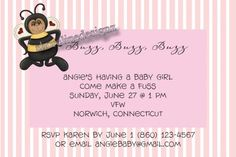 Bumble Bee Baby Shower Invitations, Printable, High Resolution JPG