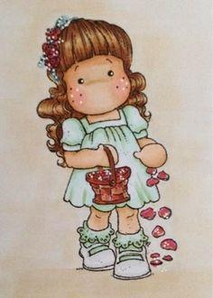 PetraAv's Creaties: Communiekantje   2010-WC-Flower Girl Tilda