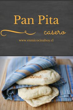 Pan pita Bread Recipes, Real Food Recipes, Cooking Recipes, Healthy Recipes, Pan Bread, Bread Baking, Comida Diy, Chilean Recipes, Salads
