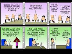 Dilbert. Management disconnected