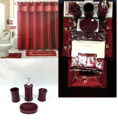 Lovely Burgundy Bathroom Accessories Images, Outstanding Burgundy Bathroom  Accessories 53 For Dining Room Ideas With