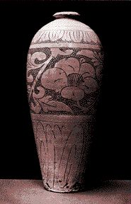T''zu-Chou vase, Chinese, Sung Dynasty (11th-12th century AD) sgraffito carved through a white slip to a stoneware body