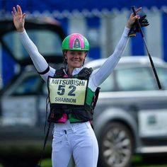 Also Lauren Shannon, with her amazing new helmet, at Badminton Horse Trials!