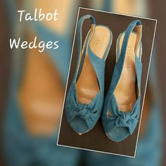 Talbots Teal Wedges These are adorable teal wedges great for spring, brand new without tags. Please ask any questions. Thanks for looking. Talbots Shoes Wedges