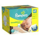 #USAshopping #10: Pampers Swaddlers Newborn Diapers Size 1, 216 Count