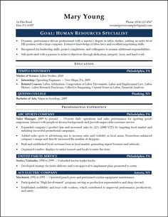 best looking entry level resumes google search - Entry Level Human Resources Resume