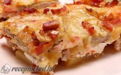 Casserole chop with recipe photo European Dishes, Hawaiian Pizza, Food Photo, Lasagna, Quiche, Casserole, Hamburger, Bacon, Breakfast