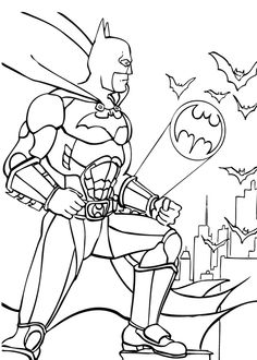 Coloriage de Batman à la rescousse