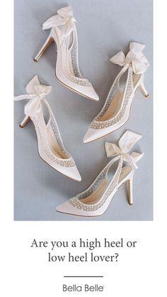 Satin Wedding Shoes, Wedding Flats, Ivory Wedding, Tulle Wedding, Wedding Bride, Wedding Dresses, Polka Dot Pumps, Clear Strap Heels, Shoe Crafts