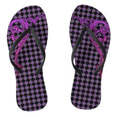 Shop Elegant Goth Purple Swirl Design Flip Flips Flip Flops created by vamporium. Flip Flop Art, Flip Flops, Neo Victorian, Swirl Design, Summer Fun, Goth, Slip On, Sandals, Elegant