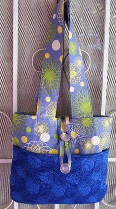 Shoulder Bag Blue Fabric Handbag Home by UniquesewingBoutique, $14.00