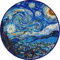 Mosaic Medallion - The Starry Night - Handmade Mosaic Medallion | #Mozaico